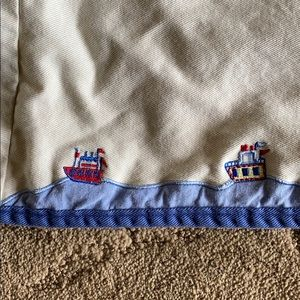 Cotton sail boat basket liner
